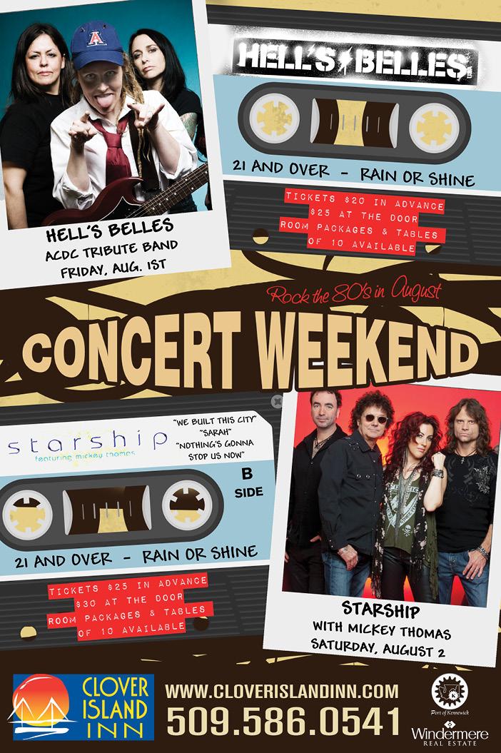 Clover Island Inn Concert Weekend Poster