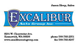Excalibur Auto Business Card