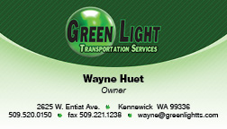 Greenlight Transportation Business Card Front