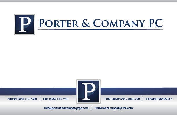 Letterhead designed and printed for Porter and Company PC